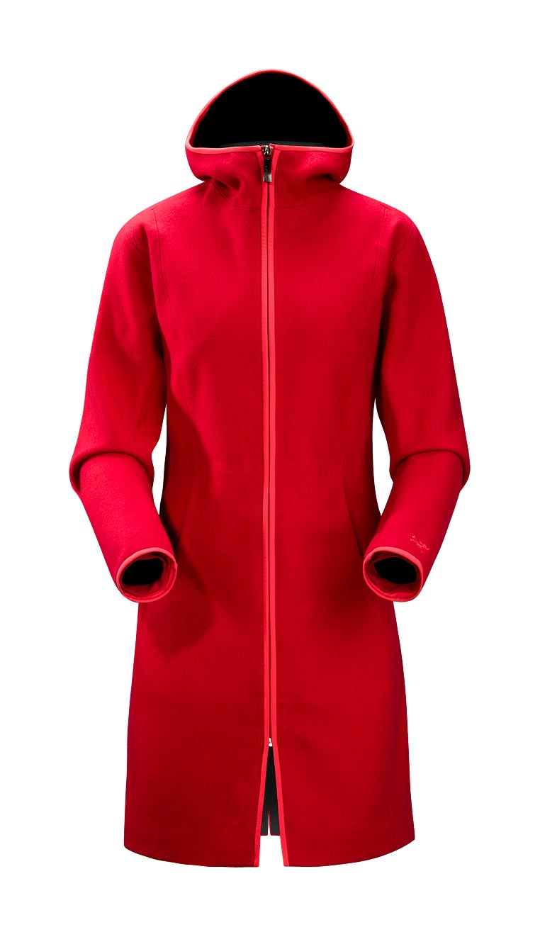 Arcteryx Candy Apple Red Lanea Long Coat